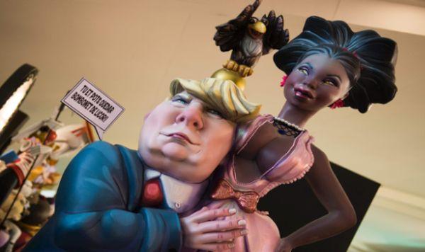 España: El muñeco de Donald Trump en las fiestas de las Fallas