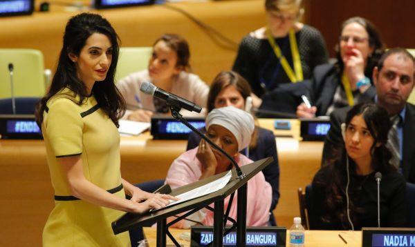 Amal Clooney y su participación en la ONU