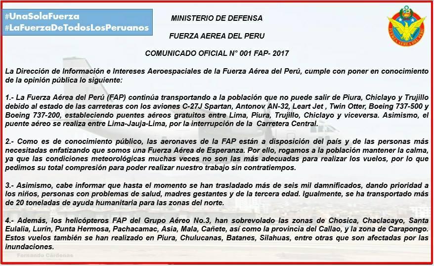 Colombia apoyará labores humanitarias en Perú