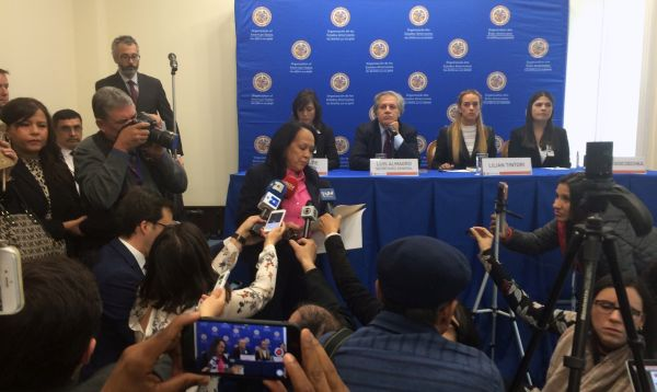Embajadora de Venezuela irrumpe en rueda de prensa de jefe de OEA - Noticias de nicolas almagro