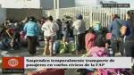FAP suspende traslado de pasajeros por puente aéreo desde Lima - Noticias de