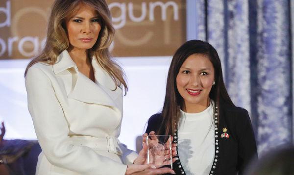 Melania Trump entregó a peruana Arlette Contreras el premio Mujer Coraje - Noticias de ee.uu