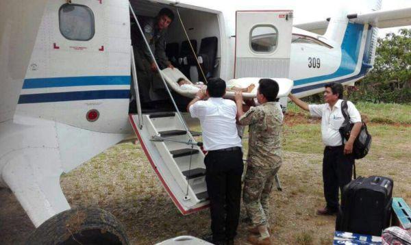 FAP realiza evacuación aeromédica de niños a Yurimaguas