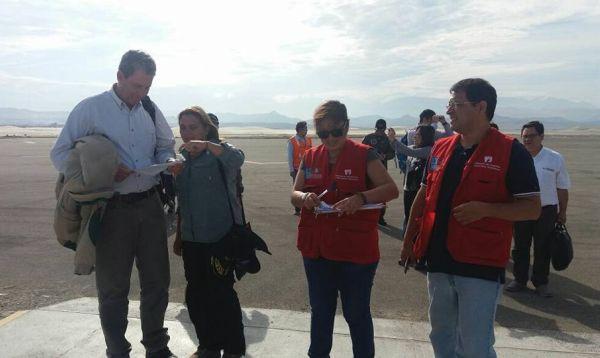 Ministros de Economía y Justicia llegan a Chimbote para supervisar entrega de ayuda humanitaria