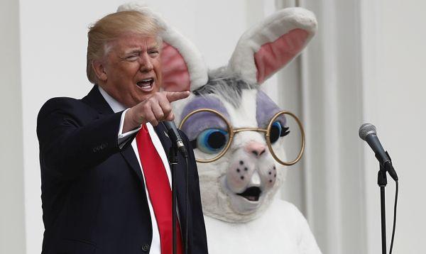 Trump lanza su primera caza de huevos de Pascua en la Casa Blanca