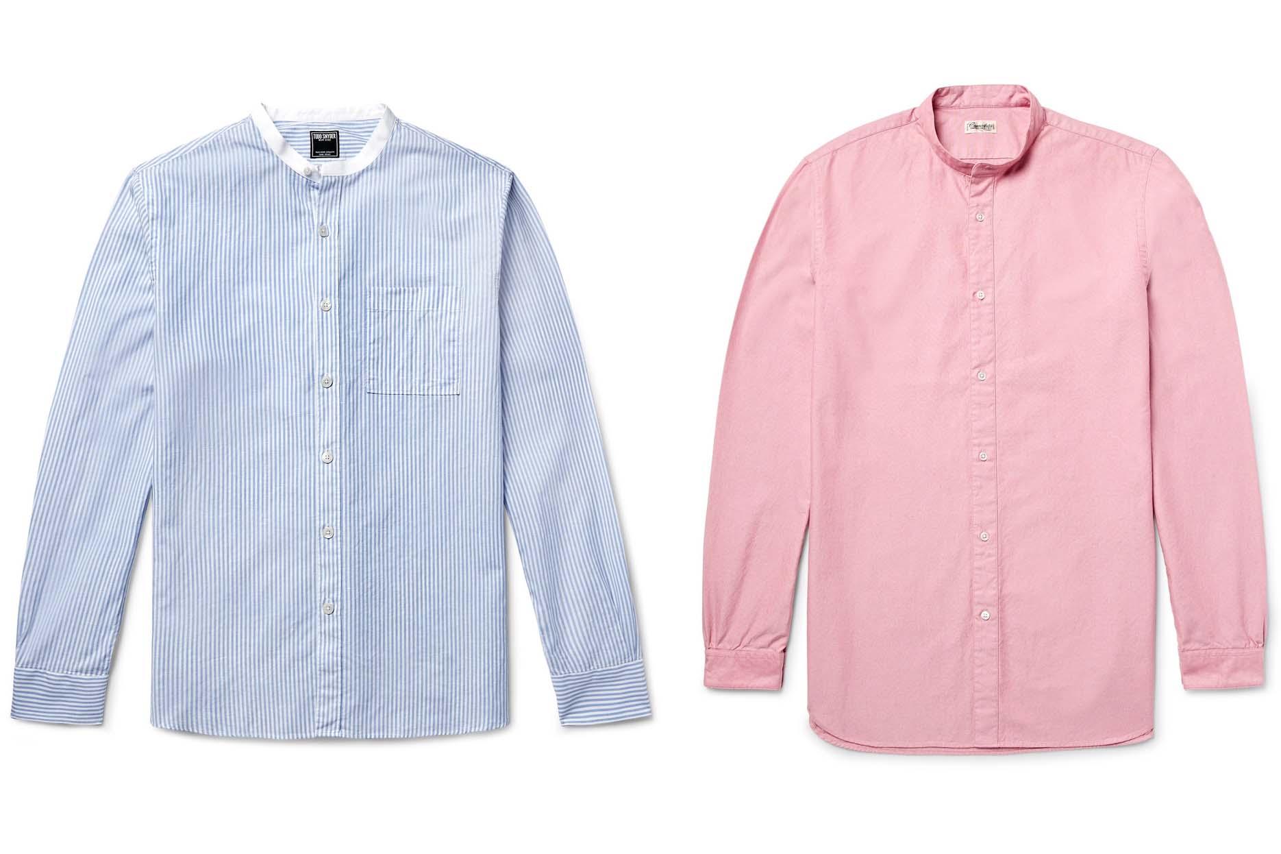 58de80a636ca0 Una opción más audaz es la camisa rayada de Oliver Spencer que hace una  apelación a lo retro sin caer en el traje.