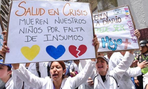 Venezuela: Médicos protestan por falta de medicamentos