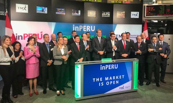 Delegación de inPerú dio campanazo en sesión de Bolsa de Toronto - Noticias de julio velarde presidente