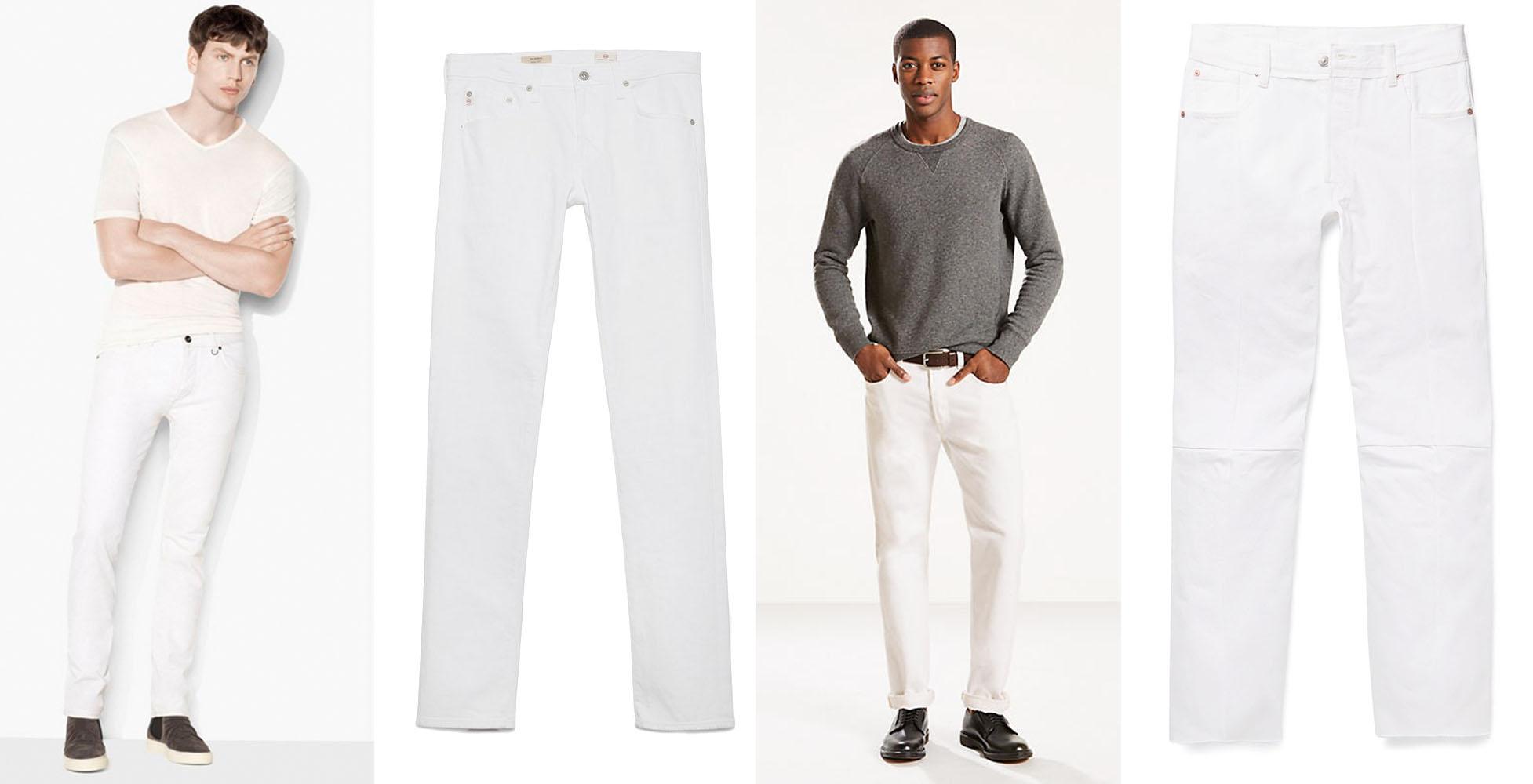 Moda masculina  Cómo usar pantalones blancos sin perder la dignidad ... 5d50324641ea