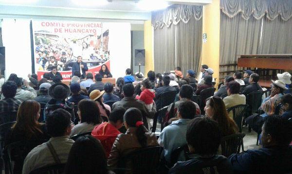 Humala se reunió con bases del Partido Nacionalista en Huancayo