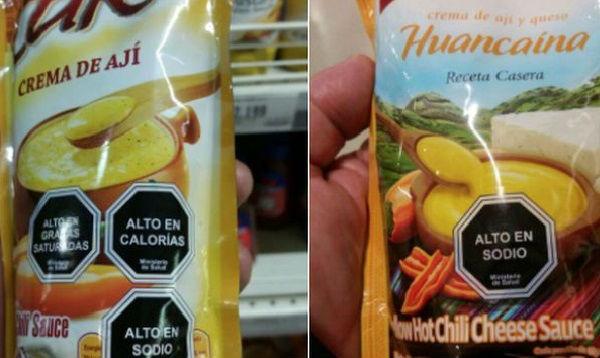 Productos de Perú al venderse en Chile son obligados a etiquetar advertencias