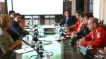 Primera Dama se reunió con Bomberos Voluntarios para impulsar mayores líneas de apoyo - Noticias de carlos basombrio
