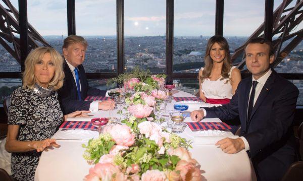 """Emmanuel Macron sobre su cena con Donald Trump: """"Una cena entre amigos"""" - Noticias de melania trump"""
