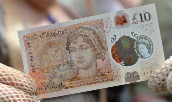 Banco de Inglaterra presenta nuevo billete de 10 libras con imagen de Jane Austen - Noticias de billetes falsificados
