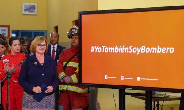 """Nancy Lange: Primera Dama presenta campaña """"#YoTambiénSoyBombero"""" - Noticias de breña"""