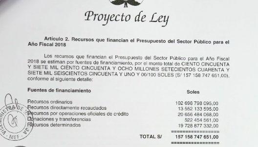 Zavala sustentará presupuesto público para 2018 el 7 de setiembre