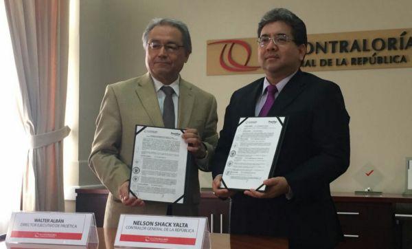 Contraloría y Proética firman acuerdo para lucha contra la corrupción - Noticias de contraloría general de la república